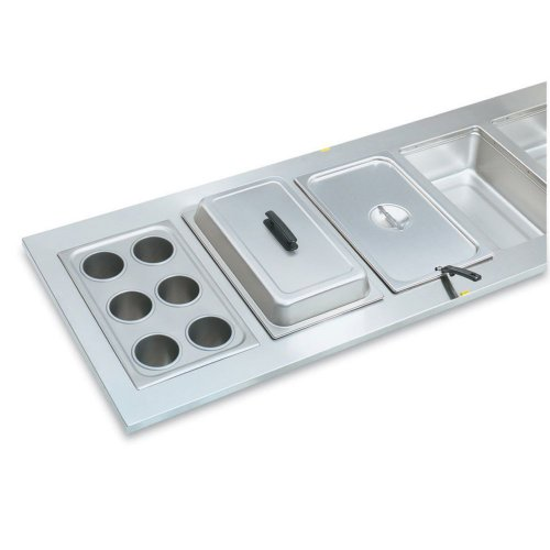 Steam Table Inset - Vollrath Six Opening S/S Adaptor Plate