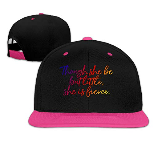Puyiyua Rock Punk Baseball Cap Though She Be But Little, She is Fierce Shakes Unisex Trucker Hat Hip-hop Snapback Pink