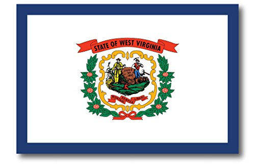 West Virginia Car Magnet US State Flag Refrigerator Locker SUV Heavy Duty Waterproof…