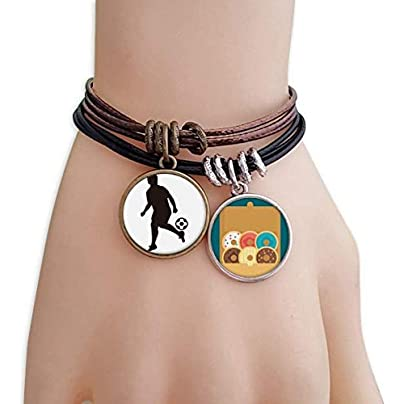 SeeParts Football soccer Sports Silhouette Bracelet Rope Doughnut Wristband Estimated Price £9.99 -