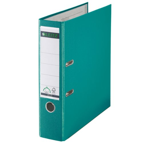 Esselte Leitz 10105052 Ring Binder A4 Opens 180° Plastic Turquoise ()