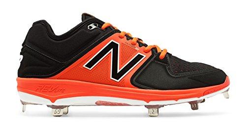 Nuovo Equilibrio Mens L3000v3 Scarpe Da Baseball In Metallo Nero-arancio