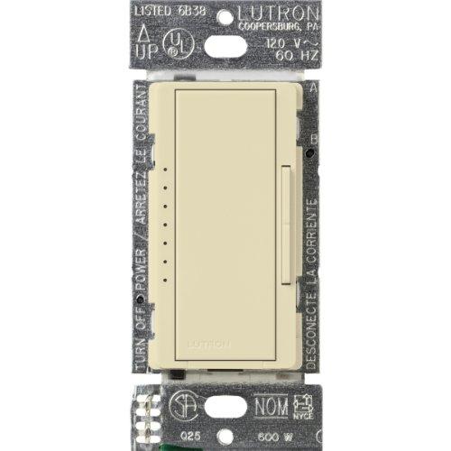 Lutron Maestro - Regulador de intensidad ecológica (600 W), almendra