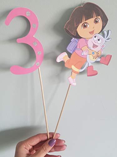 Dora the explorer cake topper -