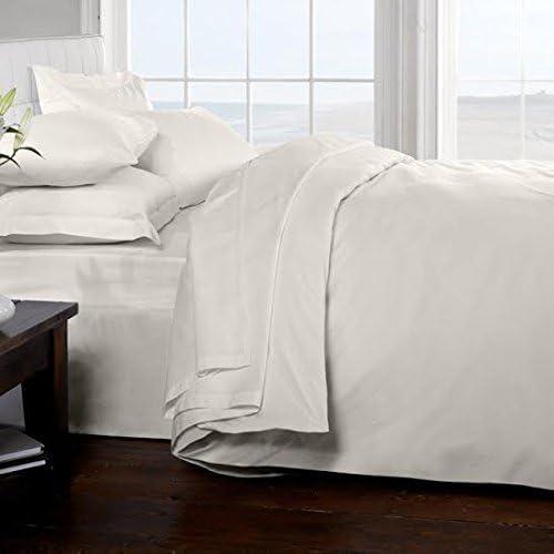 Classic cama 100% algodón egipcio 200 hilos sábanas, blanco, doble ...