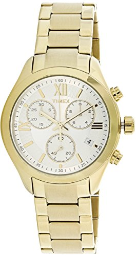 Timex Women's Miami Chronograph TW2P93700 Gold Stainless-Steel Quartz Fashion Watch by Timex