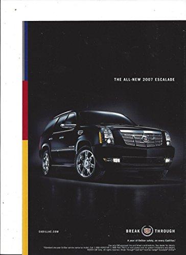 MAGAZINE ADVERTISEMENT For 2005 Black Cadillac Escalade Break Through 2005 Escalade Collectible