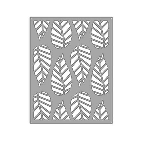 FidgetKute Striped Leaf Cutting Dies Stencil Scrapbook Photo Album Embossing Decor Charm