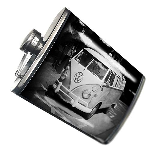 NEONBLOND Flask VW Bus surfbus 60s Hip Flask PU Leather Stainless Steel Wrapped