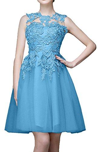 Kurzes Braut Mini Blau Abendkleider Cocktailkleider Marie Promkleider La Champagner Abiballkleider Spitze wa5xPqCI