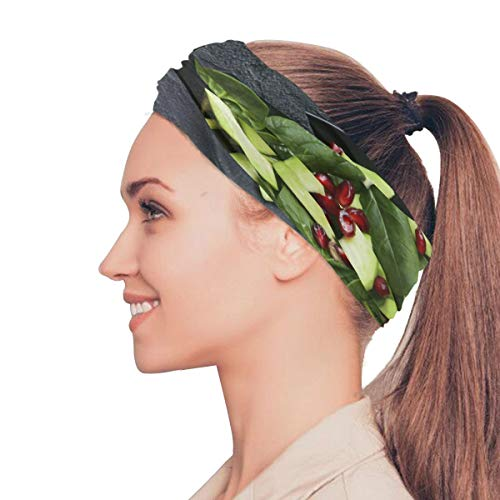 Fragrant and Attractive Avocado Elastic Headbands Head Wrap Shawl Sports Sweatband Face Mask Magic Scarf Hair Accessories Bands Ties for Women Girls Running Fitness Yoga (Best Avocado Hair Mask Recipe)