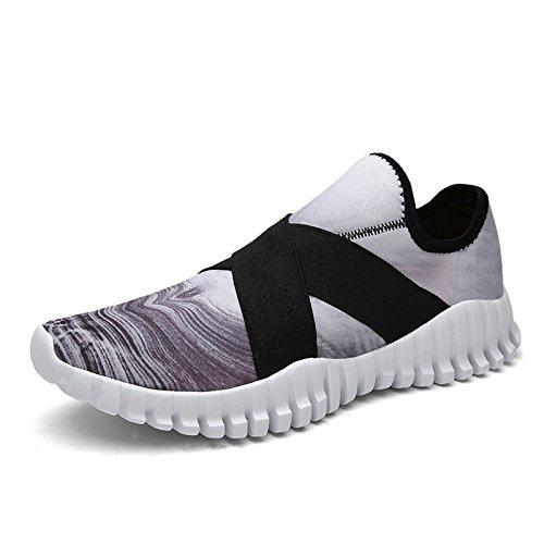 Tanly Women's Flex Comfort Slip On Walking Shoes Lightweight Fashion Sport Running Sneakers Gray
