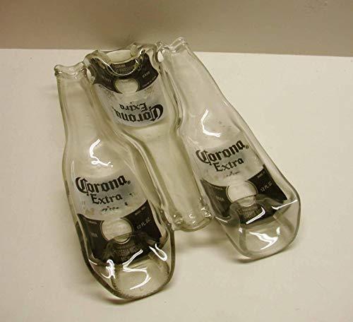 3 Corona Extra Beer Bottles Fused Condiment Dish Trinket Bowl Serving Piece (Beer Bottle Mold)