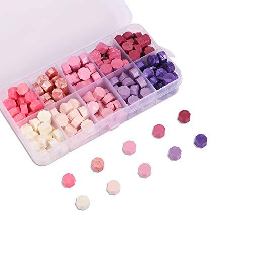Cera para sellos en perlas. 200u.- pink