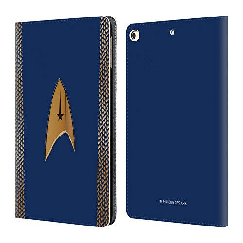 Official Star Trek Discovery Command Uniforms Leather Book Wallet Case Cover for iPad 9.7 2017 / iPad 9.7 2018 ()