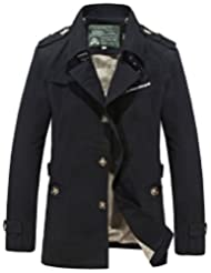 HengJia Men's Casual Field Coat Fashion Cotton Outerwear Jacket