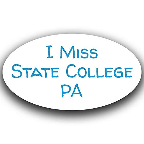 I Miss State College Pennsylvania Decal Sticker Travel Car Truck Van Bumper Window Laptop Cup Wall - One 5.5 Inch Decal - MKS0527