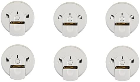 Kidde 6PK KN-COSM-BA Battery-Operated Combination Carbon Monoxide and Smoke Talking Alarm 6 Pack , WHITE