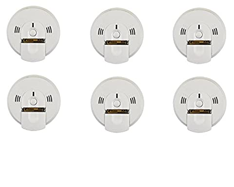 Kidde KN-COSM-BA Battery-Operated Combination Carbon Monoxide and Smoke Alarm with Talking Alarm (6 - Photoelectric Ionization Smoke Detectors