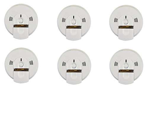 Kidde KN-COSM-BA Battery-Operated Combination Carbon Monoxide and Smoke Alarm with Talking Alarm (6 Pack)