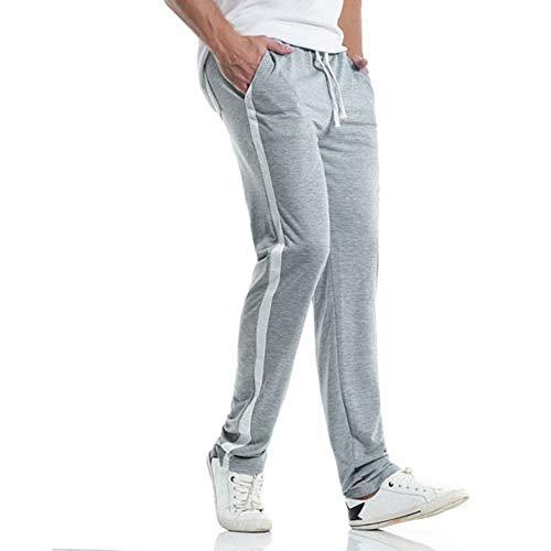 Sport Leggings A Harem Tuta Tasche Righe Slim Grigio Lunghi Con Per Abcone Sportivi Della Uomini Degli Casuali Pantaloni Jogging Larghi Uomo 6Ywqx8