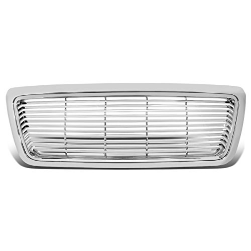 (For 04-08 Ford F150 Billet Style Front Bumper Grille (Chrome))
