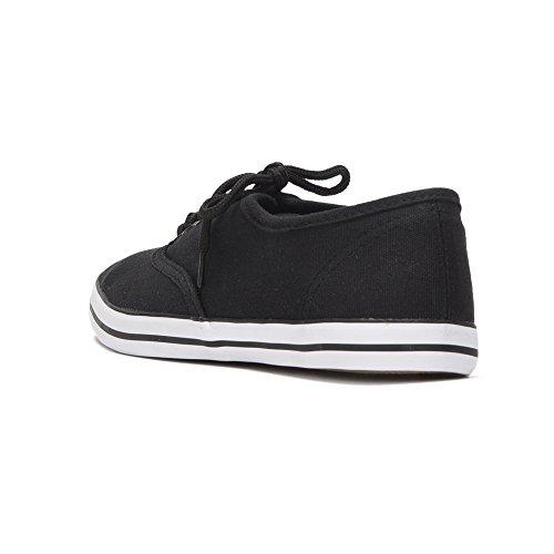 Reservoir Shoes Baskets Basses Unies Mixte Perm Noir 04BZweo5N0