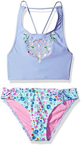 Price comparison product image VIGOSS Big Girls' In Bloom Crop Top Periwinkle, Blue, 10/12