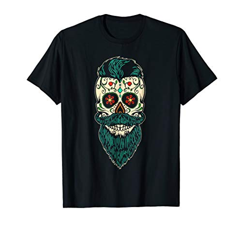 Sugar Skull Halloween Costume Male (Day Of The Dead Bearded Sugar Skull Halloween Costume)