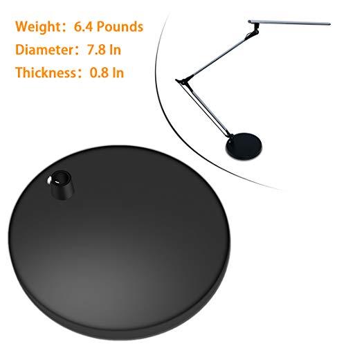 - ROZKY Heavy Desk Lamp Base for (Rozky rk01/02/03/04) Architect Swing Arm LED Desk Lamp, Diameter:7.8 in Round (Black)
