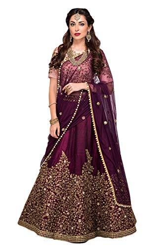 - REKHA Ethnic Shop Designer Lehenga Choli Party Wear Lehenga Choli Bridal Lehenga Choli Wedding Lehenga 07 Purple