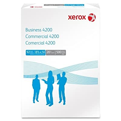 "Xerox Business 4200 Paper - Legal - 8.50"" x 14"" - 20 lb - 92 Brightness - 500 / Ream - White"