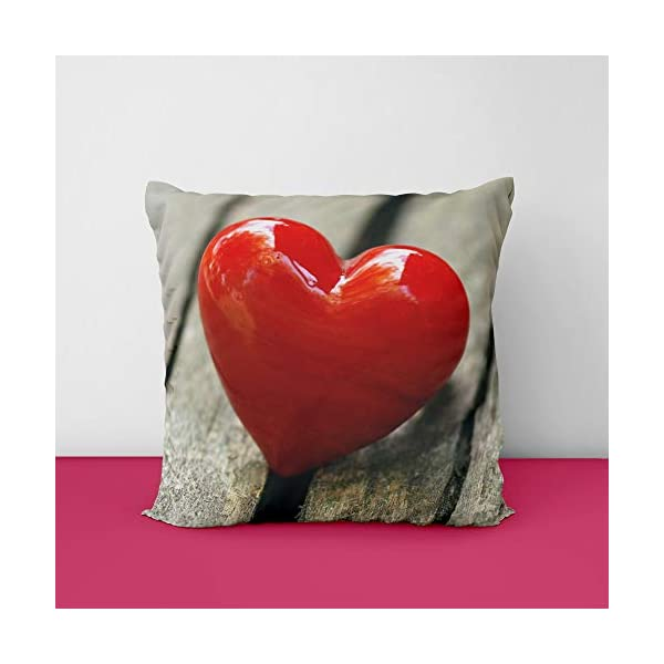 41N5VCypomL Shine Red Heat Square Design Printed Cushion Cover