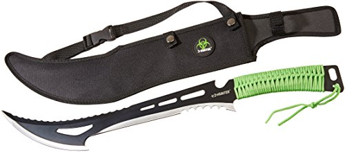 Z-Hunter-ZB-020-Zombie-Killer-Machete-Two-Tone-Full-Tang-Blade-Green-Cord-Wrapped-Handle-23-34-Inch-Overall