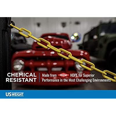 US Weight Chainboss White Plastic Safety Chain with Sun Shield UV Resistant Technology - 25 ft: Industrial & Scientific