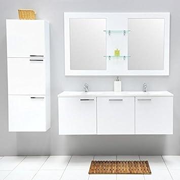 Galdem® Juego de Muebles para baño con Lavabo Espejo Doble Armario ...
