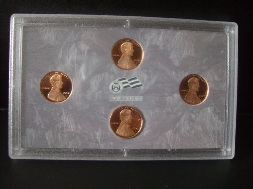Set 4 Cent Coins In US Mint Hold ()