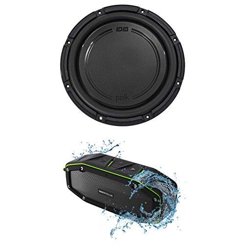Polk Audio DB1242SVC 12 1110 Watt Single 4-Ohm Car Audio Subwoofer Sub+Speaker by Polk Audio