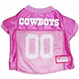 Pets First NFL Dallas Cowboys Pet Jersey, Small, pink, My Pet Supplies
