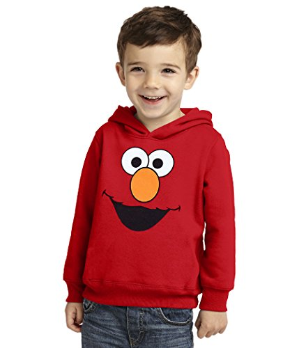 Sesame Street Elmo Face Toddler Hoodie-2T Red -