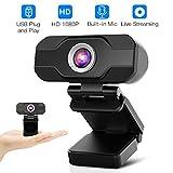 HD Webcam,Homga PC Webcam 1080P Game Web Camera USB Webcam with Microphone Desktop