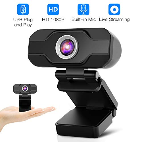 HD Webcam,Homga PC Webcam 1080P Game Web Camera USB Webcam with Microphone Desktop Laptop Camera for Video Calling Conferencing, Recording, and Streaming