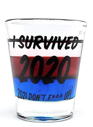 I Survived 2020 Shot Glass. Funny 2020 Shot Glass, Funny 2021 Shot Glass, Quarantine gift, Christmas/ New Year Shot…