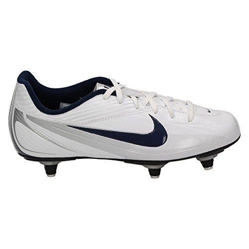 Nike JR RIO 2 SG Kinder Fußball Schuhe Stollensohle, Weiß Blau Weiß