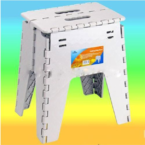 Large Folding Step Stool Fold Up Away Heavy Duty Plastic 39cm Tall  sc 1 st  Amazon UK : large folding step stool - islam-shia.org