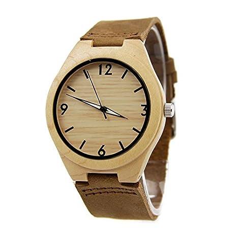 9b9dd9b3aa04 GDS La nueva madera relojes Unisex   natural madera   bambú   reloj de  pulsera