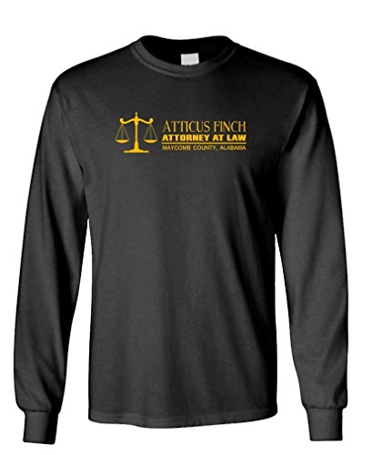 ATTICUS FINCH ATTORNEY AT LAW - mockingbird - Long Sleeved Tee, M, - Clothing Atticus Finch