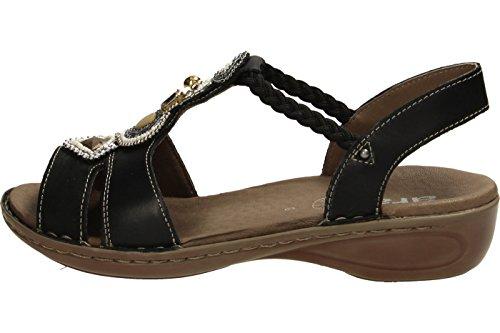 ara 12-37275-09 Hawaii - Sandalias de vestir de Piel para mujer Negro - Schwarz Kombi