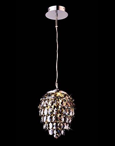 Brass Crystal Pendant (Saint Mossi Crystal Rain Drop Chandelier Modern & Contemporary Ceiling Pendant Light 2 E12 Bulbs Required H43