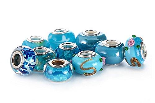 BRCbeads AQUAMARINE THEMEMurano Lampwork Bracelets product image
